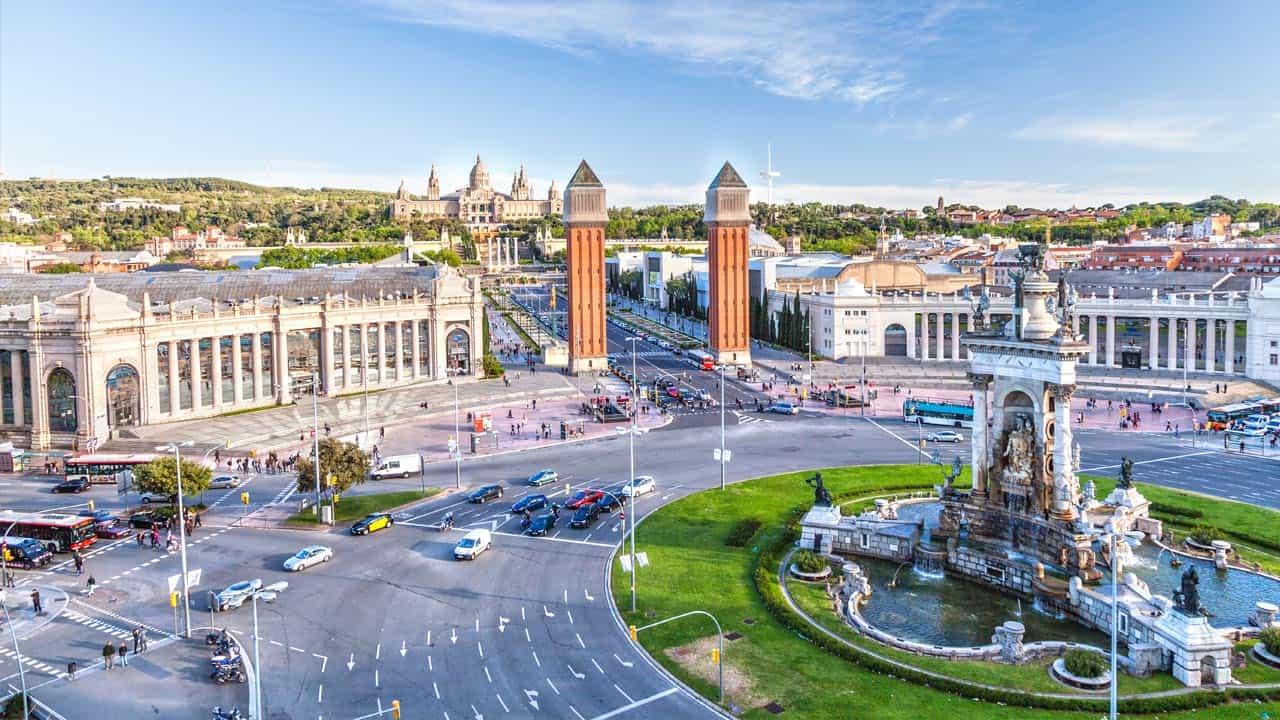 Barcelona, plaza de España